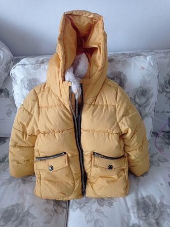 Kurtka zimowa Zara, puchowa r.116