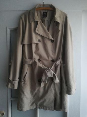 Płaszcz trencz kurtka kolor beżowy 46 48 50 XL XXL