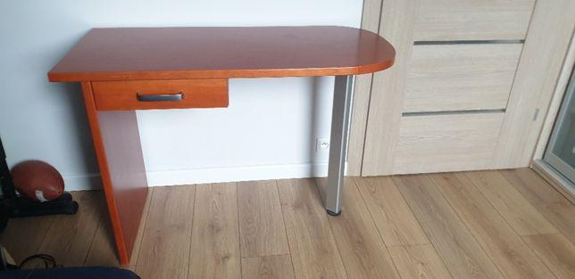 Biurko drewniane z metalową nogą