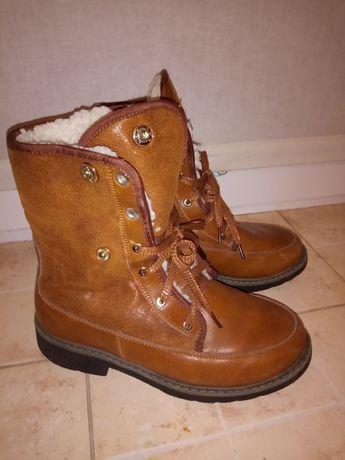 Ботинки зимние кожаные на цыгейке