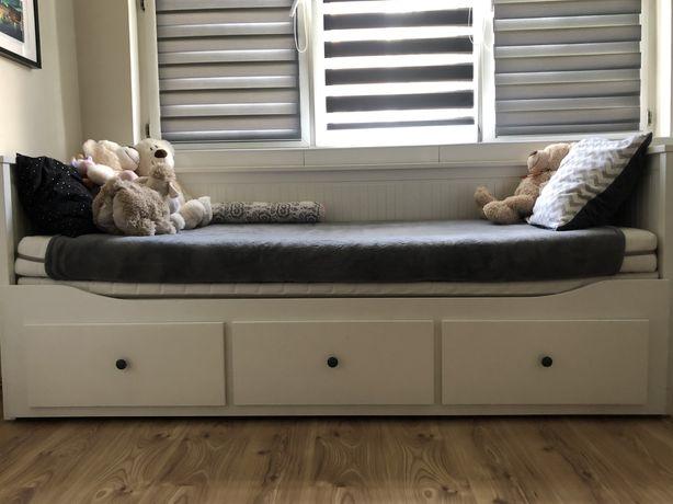 Ikea Hemnes łóżko z dwoma meteracami