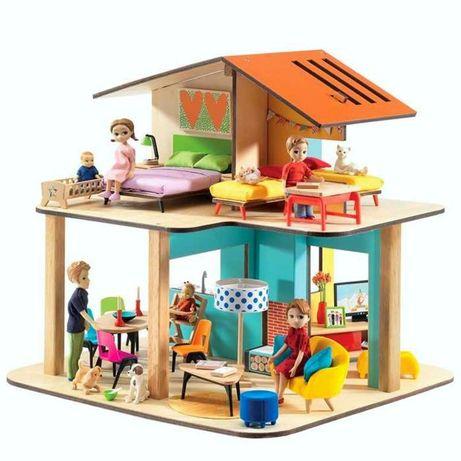 Djeco Modern House drewniany domek dla lalek