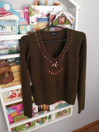 Sweter brązowy s/m