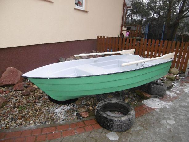 łódka, łódź wiosłowa, wędkarska, nowa, komplet z wiosłami