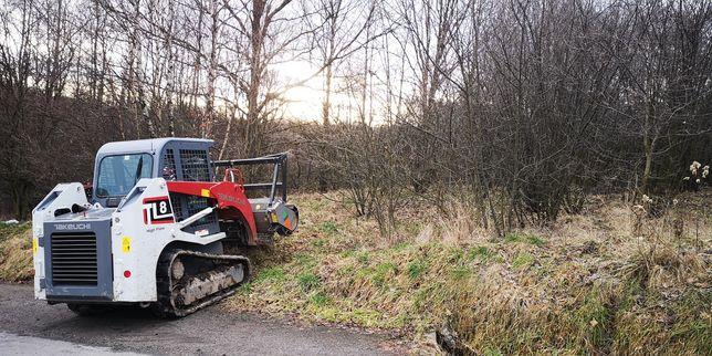 Koszenie nieużytków zarośli mulczer leśny czyszczenie działek terenów