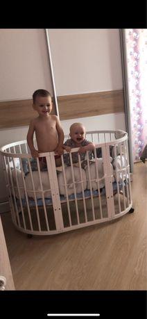 Овальная кроватка, круглая, трансформер 7в1, овальне ліжечко