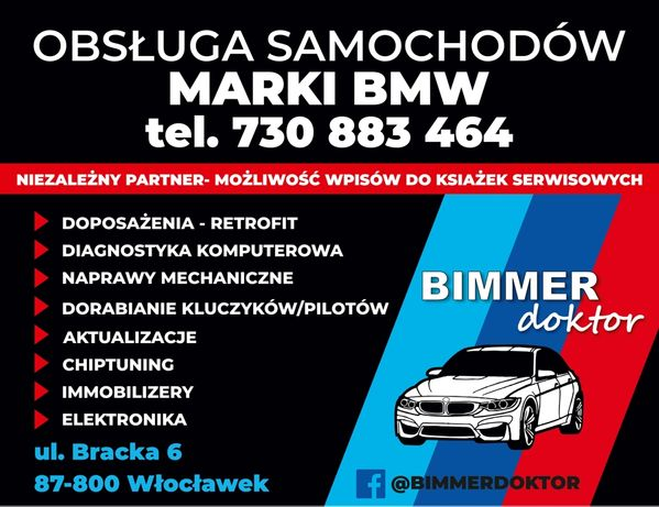 Diagnostyka BMW Kodowanie Doposażenia Kluczyki Naprawy Chiptuning