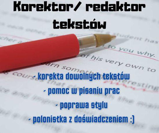 Korekta i redakcja tekstów