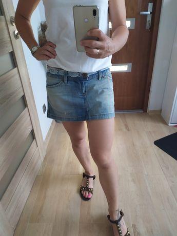 Jeansowa mini spódniczka 38