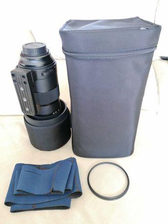 Objetiva Sigma 150-600mm OS HSM Sports para Canon c/ filtro UV +extras