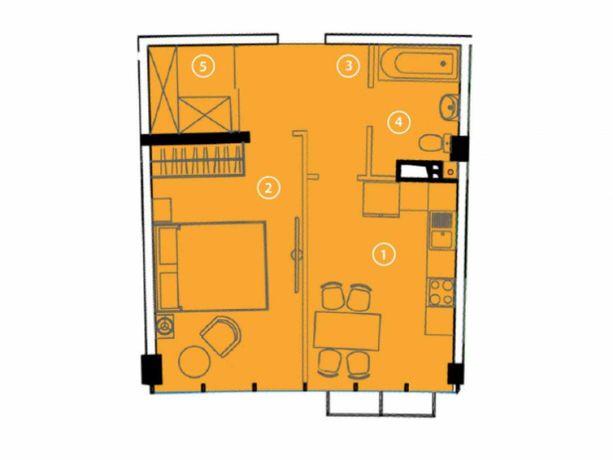 Продам 1-комнатную в сданном доме у моря в Авторском районе