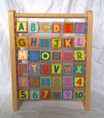 Alex toys little hands, деревянные счеты, алфавит, цифры