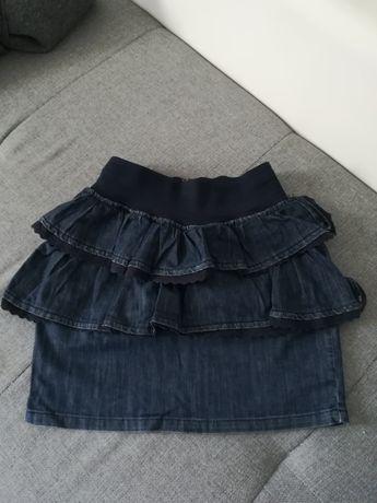 Spódnica spódniczka mini falbany jeans Stradivarius M