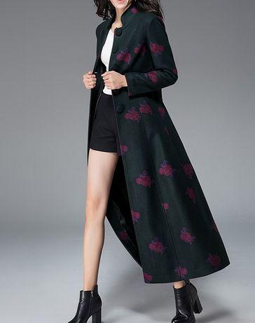 Eksluzywny płaszcz long wełna kaszmir r.38 - nowy wyprzedaż