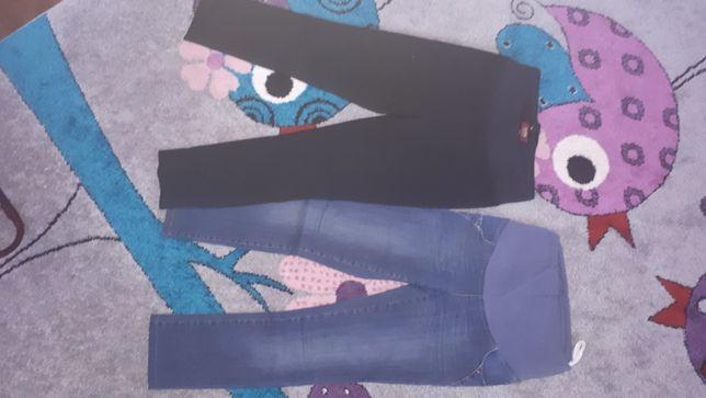 Spodnie ciążowe jeansowe Branco i czarne Katrina roz. S, 36