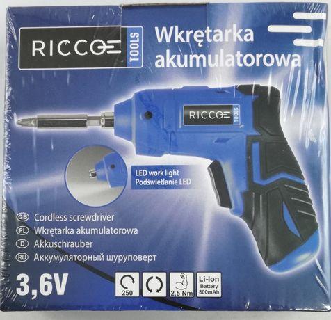 Wkrętarka akumulatorowa 3.6V Ricco Jak nowa!