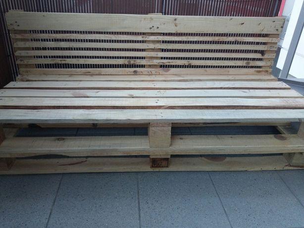 Ławka z palet drewniana doniczka skrzynka domek dla dzieci