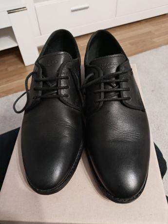 Buty Lasocki czarne eleganckiepantofelki dla chłopca 36 komunia wesele
