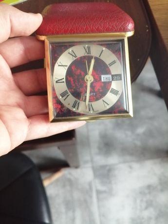 Zegarek budzik w etui lata 80. Unikat