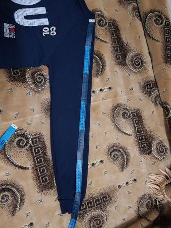 Синий трикотажный джемперок 46-48р