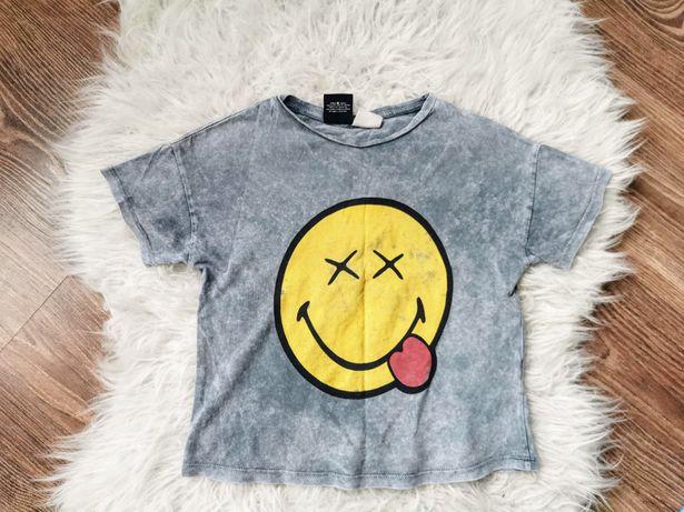 Koszulka t-shirt ZARA 116 z efektem sprania buźka