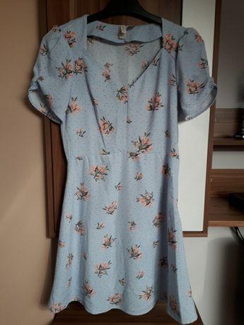 H&M 36 sukienka błękitna śliczna