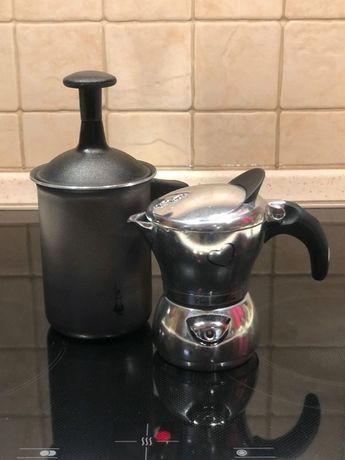 Bialetti Kawiarka Cuor di Moka + Tuttocrema Zestaw do cappuccino