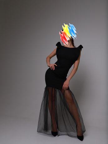 Платье вечернее черного цвета классика