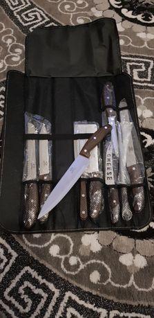conjunto 9 facas de cozinheiro com estojo de arrumação