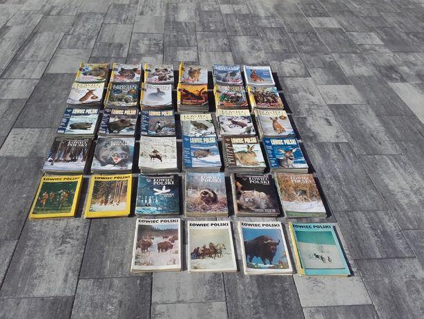 Łowiec Polski kolekcja 405 gazet, myślistwo, hunting od 1985 do 2020