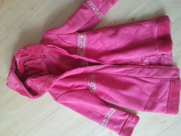 Elegancki góralski ciepły płaszczyk rozmiar 122