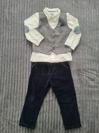 Komplet kamizelka koszula biala spodnie cool club r 92