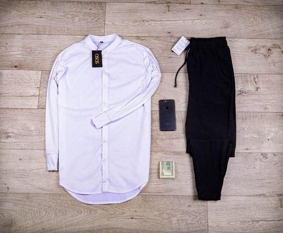 ТРЕНД сезона! Мужской Комплект ASOS костюм белая рубашка Брюки черные