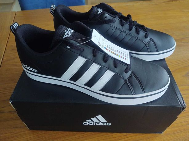 Nowe buty męskie trampki Adidas VS Pace czarne rozmiar 44 i 2/3