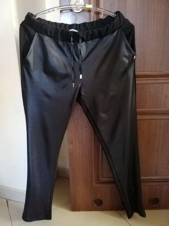 Spodnie leginsy Liu jo czarne Eco skóra XL