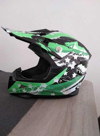 [NOVO] Capacete Motocross M YEMA Homologado • Verde