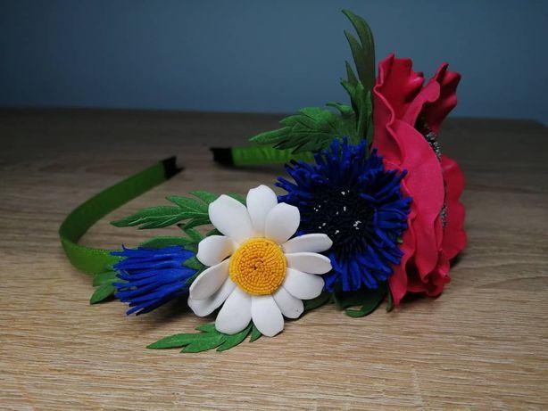 Ободок с полевыми цветами, подарок к 8 марта