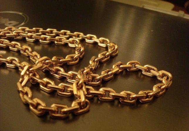 Pozłacany łańcuszek kuty złoty
