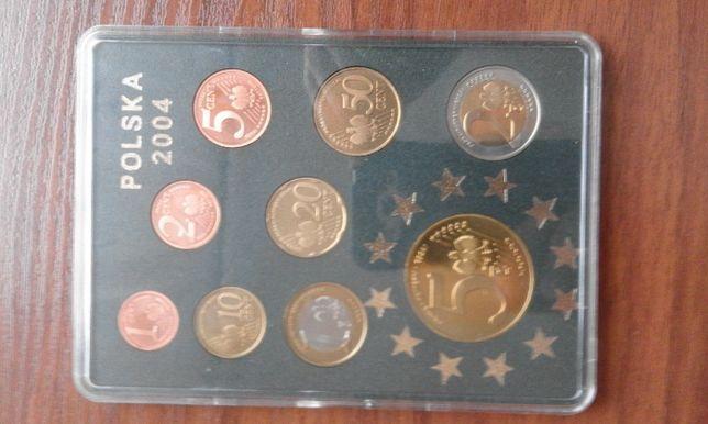 sprzedam. monety polskie euro rok 2004