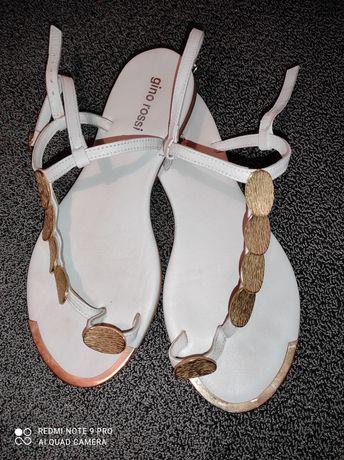Skórzane sandały Gino Rossi rozmiar 39 jak nowe