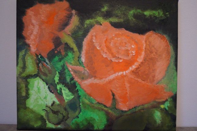 Obraz olejny Róże