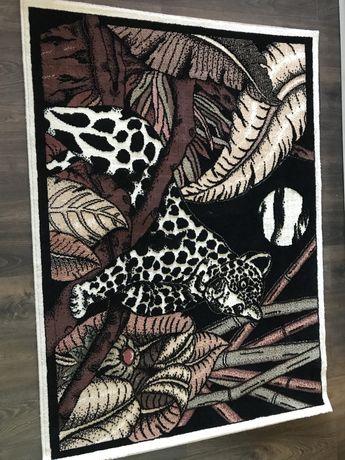 Ковер  Леопард цвет чёрно белый
