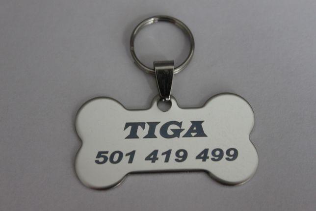 Adresówka, zawieszka, identyfikator dla psa kota - grawer