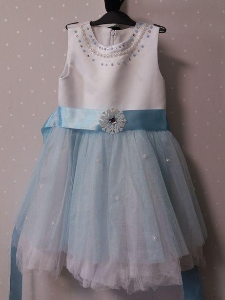 Платье снежинки 3-4 года