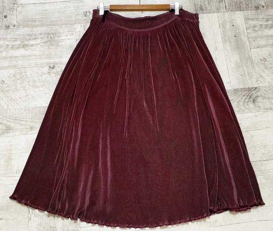Spódnica plisowana burgund połysk 46