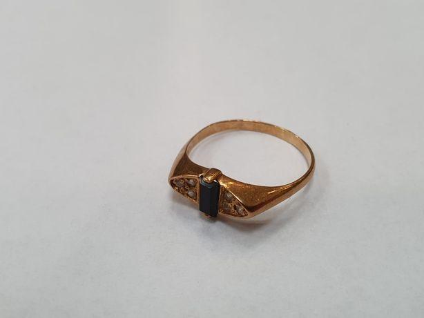 Klasyczny złoty pierścionek damski/ 585/ 2.5 gram/ R18/ sklep Gdynia