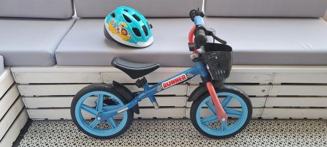 Rowerek biegowy + kask - nowy