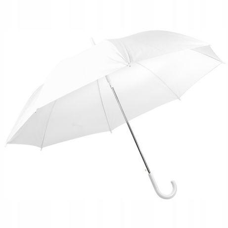 Biały parasol parasolka ślubna duża