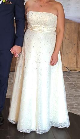 Sukienka suknia ślubna ecru M L 40 42