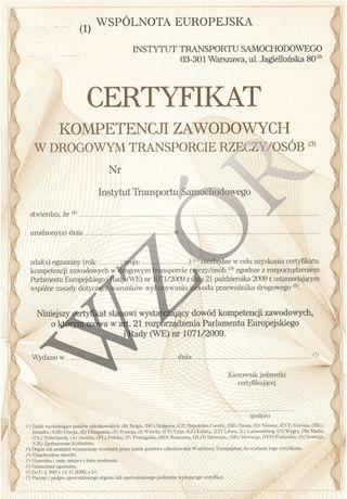 Użycze Certyfikat